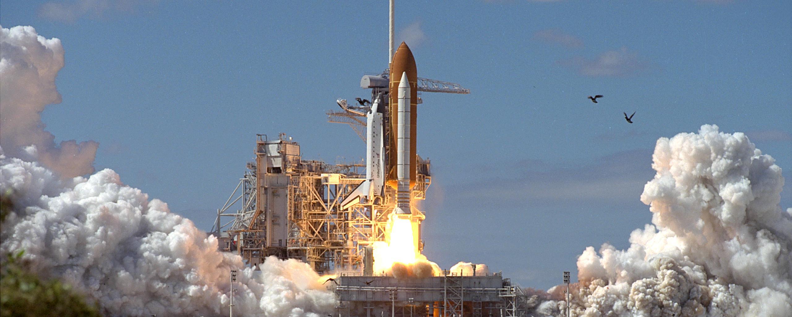 Shuttle Atlantis Takeoff Launch of Shuttle Atlantis