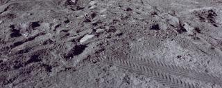 Trampled lunar soil, Apollo 15