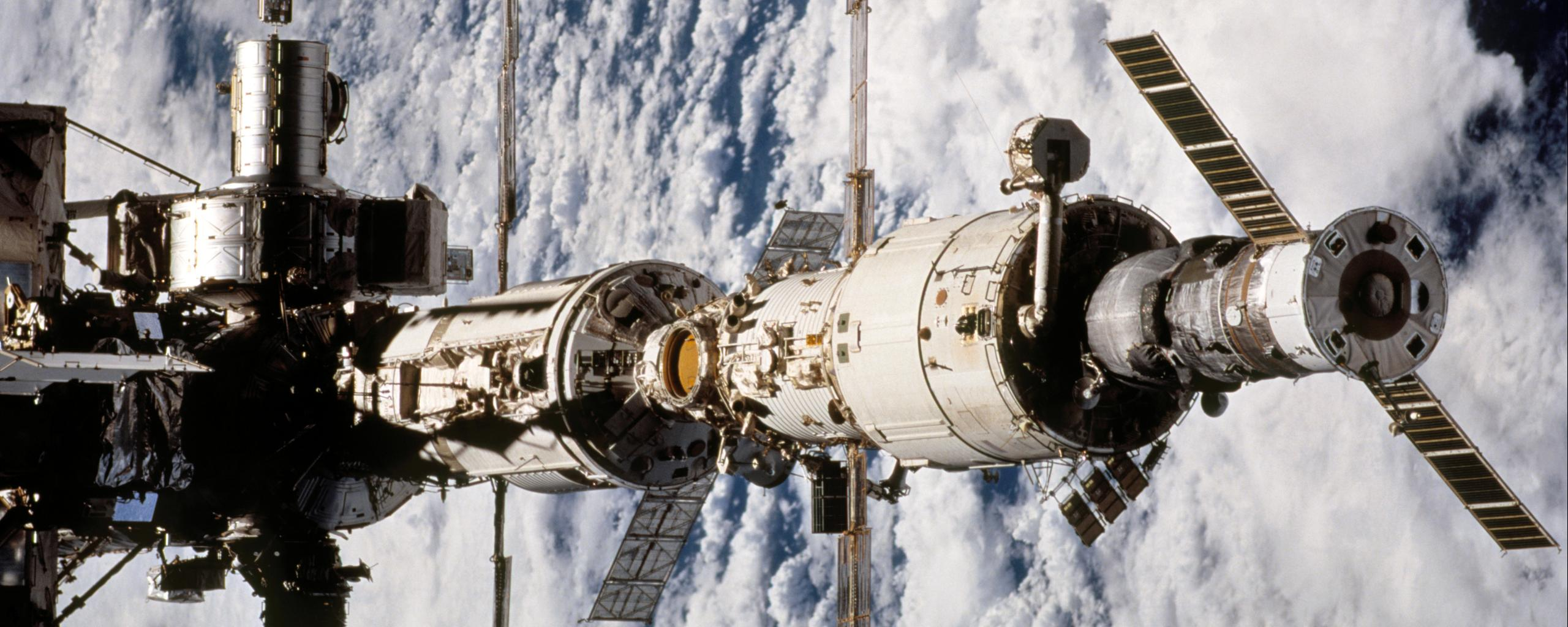 space station over earth taken during sts 111